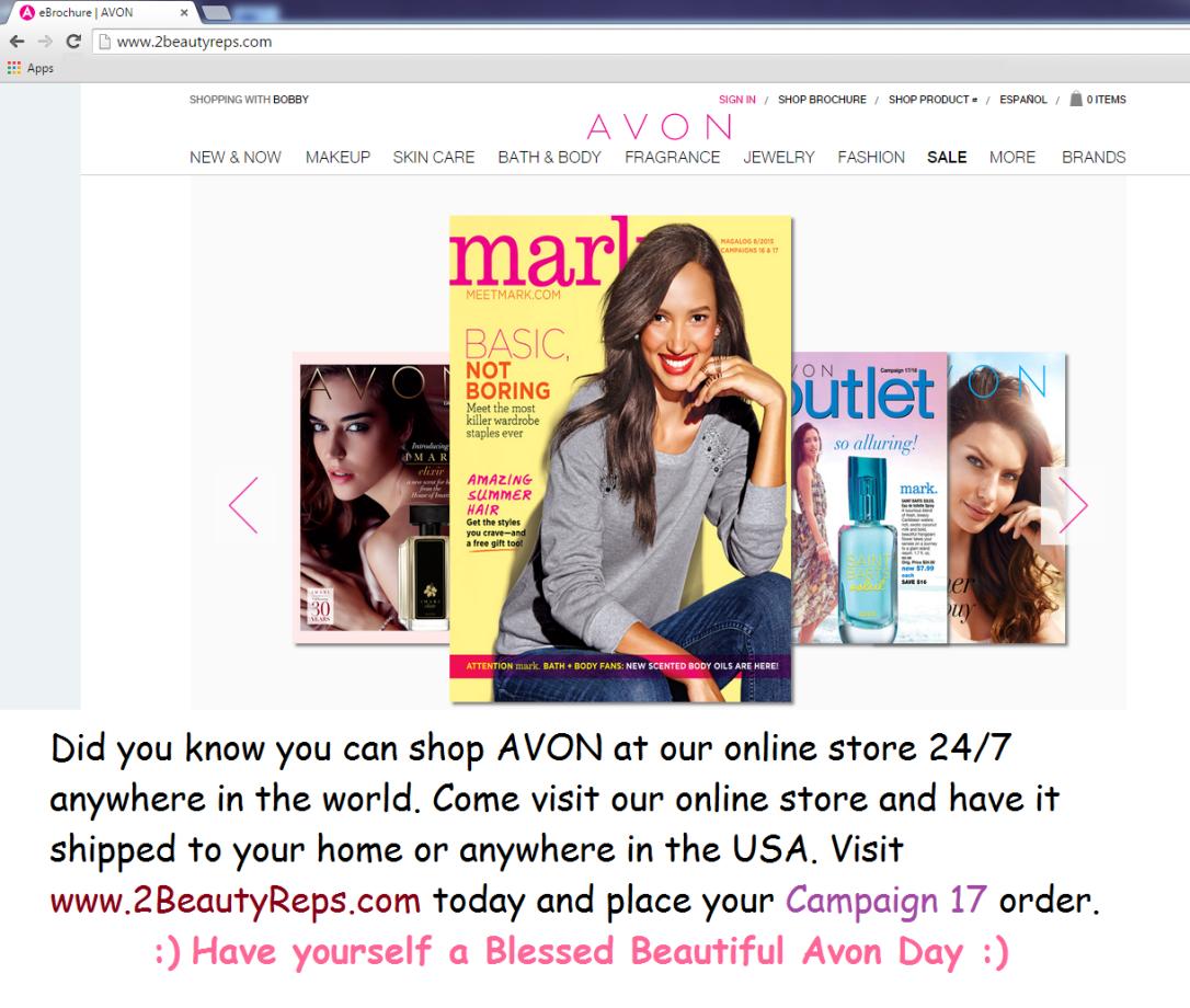 www.2BeautyReps.com Avon Store
